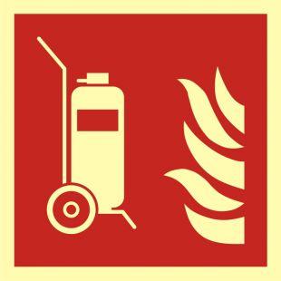 BAF009 - Gaśnica kołowa - znak przeciwpożarowy ppoż