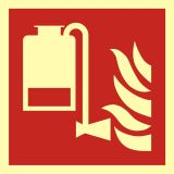 BAF010 - Przenośny aplikator piany - znak przeciwpożarowy ppoż - Dopuszczenie do użytkowania – znaki bezpieczeństwa
