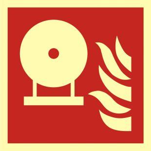 BAF013 - Zamocowana butla gaśnicza - znak przeciwpożarowy ppoż