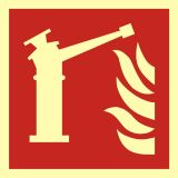 BAF015 - Monitor - znak przeciwpożarowy ppoż - Stocznia – bezpieczeństwo i higiena pracy