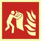 BAF016 - Koc gaśniczy - znak przeciwpożarowy ppoż