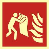 BAF016 - Koc gaśniczy - znak przeciwpożarowy ppoż - Pożar w miejscu pracy – jak działać?