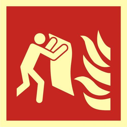 BAF016 - Koc gaśniczy - znak przeciwpożarowy ppoż - Ogólne minimalne wymagania dla znaków bezpieczeństwa