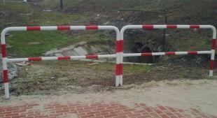 Ogrodzenie segmentowe bariera ochronna chodnikowa rurowa U-12a