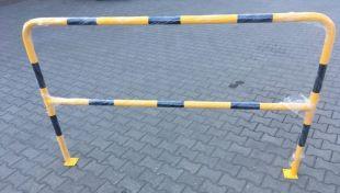 Ogrodzenie segmentowe barierka na stopie do przykręcenia U-12a żółto-czarna