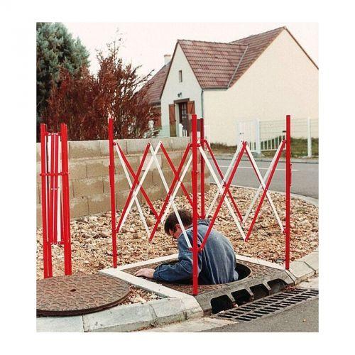 Bariera harmonijkowa, nożycowa - zapora drogowa rozsuwana - studzienkowa - Prace w zbiornikach i przestrzeniach zamkniętych