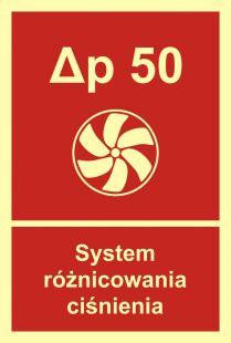 BB018 - System różnicowania ciśnienia - znak przeciwpożarowy ppoż