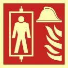 BB022 - Dźwig dla straży pożarnej - znak przeciwpożarowy ppoż