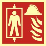 BB022 - Dźwig dla straży pożarnej - znak przeciwpożarowy ppoż - Znaki bezpieczeństwa – wymagania konstrukcyjne i normy