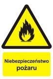 BC001 - Niebezpieczeństwo pożaru - materiały łatwopalne - znak przeciwpożarowy ppoż - Prace w zbiornikach i przestrzeniach zamkniętych