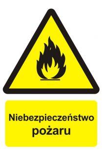 BC001 - Niebezpieczeństwo pożaru - materiały łatwopalne - znak przeciwpożarowy ppoż