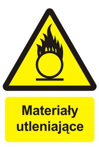 BC003 - Materiały utleniające - znak przeciwpożarowy ppoż - Znaki uzupełniające ochrony przeciwpożarowej