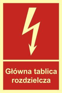 BC010 - Główna tablica rozdzielcza - znak przeciwpożarowy ppoż