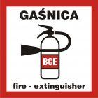 BC132 - Gaśnica - znak przeciwpożarowy ppoż