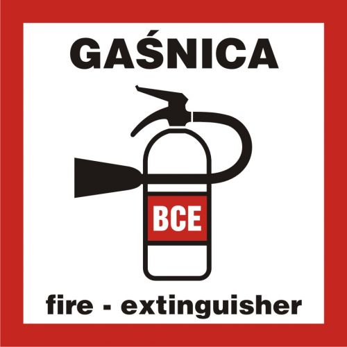 BC132 - Gaśnica - znak przeciwpożarowy ppoż - Pożar w miejscu pracy – jak działać?