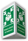 BD002 - Miejsce zbiórki do ewakuacji 3D - duży 35 x 51,8 cm - znak ewakuacyjny, przestrzenny 3D - Miejsce zbiórki do ewakuacji – wymagania