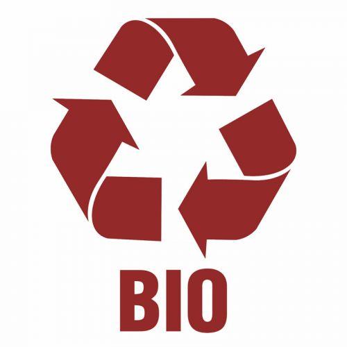 Bio 1 - znak informacyjny, segregacja śmieci - PA063 - Zasady segregacji odpadów w Gdańsku po 1 kwietnia 2018