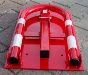 Blokada parkingowa - na kłódkę - ciężka solidna zapora 50 cm