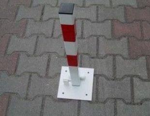 Blokada parkingowa - na kłódkę - słupek blokujący 60 cm