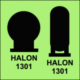 Butle halonu 1301 umieszczone w rejonie chronionym - znak morski - FA046