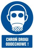 Chroń drogi oddechowe - znak bhp nakazujący - GL006 - Ryzyko zawodowe a przepisy BHP