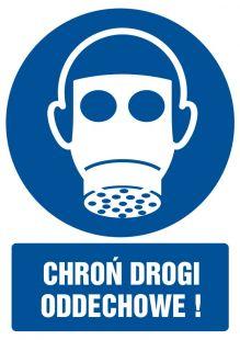 Chroń drogi oddechowe - znak bhp nakazujący - GL006