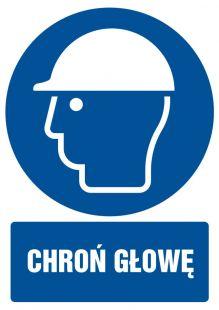 Chroń głowę - znak bhp nakazujący - GL004