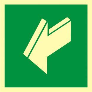 Ciągnąć aby otworzyć - znak ewakuacyjny - AA011