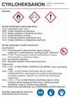 Cykloheksanon - etykieta, oznakowanie opakowania
