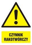 Czynnik rakotwórczy - znak bhp ostrzegający, informujący - GF004 - Praca przy materiałach niebezpiecznych