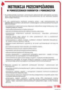 DB005 - Instrukcja przeciwpożarowa w pomieszczeniach biurowych i pomocniczych - instrukcja ppoż