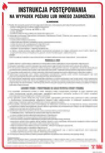 DB015 - Instrukcja postępowania na wypadek pożaru lub innego zagrożenia - instrukcja ppoż