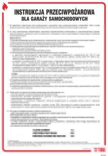 DB022 - Instrukcja przeciwpożarowa dla garaży samochodowych - instrukcja ppoż