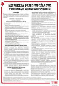 DB025 - Instrukcja przeciwpożarowa w magazynach zagrożonych wybuchem - instrukcja ppoż - Magazynowanie materiałów i innych przedmiotów