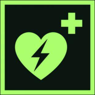 Defibrylator (AED) - znak ewakuacyjny - AAE010