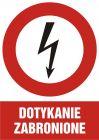 Dotykanie zabronione - znak sieci elektrycznych - HC008