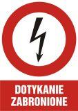 Dotykanie zabronione - znak sieci elektrycznych - HC008 - Protokół powypadkowy
