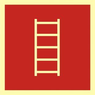 Drabina pożarowa - znak przeciwpożarowy ppoż - BA010