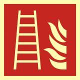 Drabina pożarowa - znak przeciwpożarowy ppoż - BAF003 - Normy dotyczące znaków bezpieczeństwa