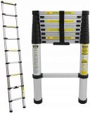 Drabina - składana, teleskopowa, przystawna, aluminiowa 2,6m - Znak dla akumulatora litowego