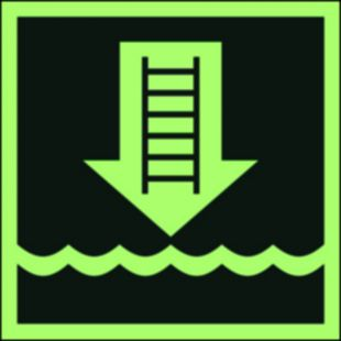 Drabinka okrętowa lub inne zatwierdzone urządzenie