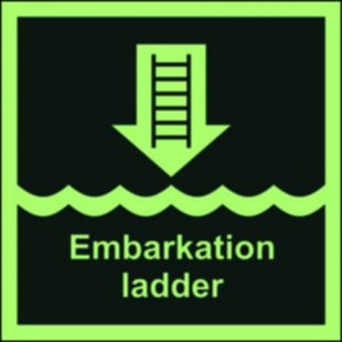 Drabinka okrętowa lub inne zatwierdzone urządzenie - znak morski - FB006