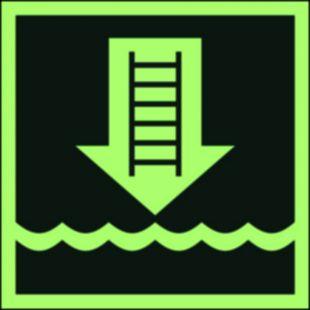 Drabinka okrętowa lub inne zatwierdzone urządzenie - znak morski - FB039