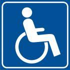 Droga dla niepełnosprawnych - znak informacyjny - RA114