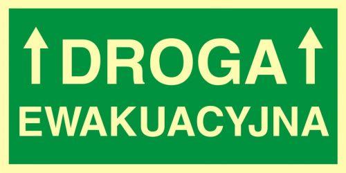 Droga ewakuacyjna 1 - znak ewakuacyjny - AC006 - Minimalne wymagania dla znaków akustycznych