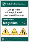 Droga leśna udostępniona do ruchu publicznego TL-2 - nadleśnictwo - tablica znak