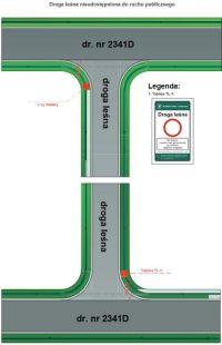 Droga leśna znak tablica TL-1 B-1, nie dotyczy rowerów, osób uprawnionych, nadleśnictwo