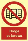 Droga pożarowa - znak przeciwpożarowy ppoż - BB001 - Norma PN-N-01256-5:1998 dla dróg ewakuacyjnych i przeciwpożarowych – zasady montażu