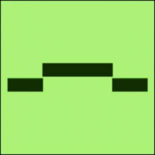 Drzwi przeciwpożarowe przesuwne - kategoria B - znak morski - FI019