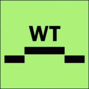 Drzwi przeciwpożarowe wodoszczelne przesuwne - kategoria A - znak morski - FI017